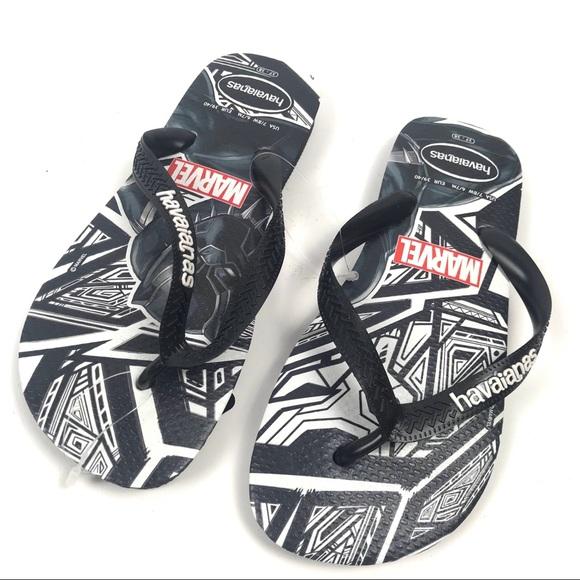 Havaianas Shoes - Havaianas 7/8W Marvel Panther Flip Flops 4141107